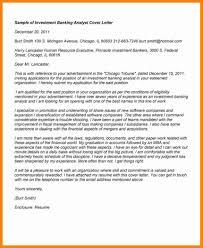 investment banking internship cover letter