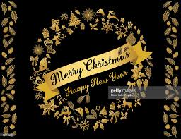 gold and black christmas card wreath template vector art getty