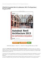review autodesk revit architecture 2013 no experience required pdf ed u2026