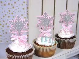 winter wonderland cupcake toppers winter wonderland gold and