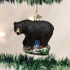 Black Bear Christmas Tree Ornaments by Amazon Com Old World Christmas Black Bear Glass Blown Ornament