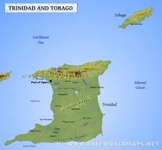 Map Of Southern Caribbean by Trinidad And Tobago Map Geographical Features Of Trinidad And
