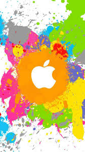 Paint Splatter Wallpaper by Yellow Apple Paint Splatter Mobile Wallpaper Phone Background