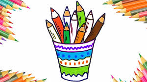 how to draw colored pencils coloring pages for children art colors