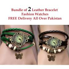 bracelet watches online images Bundle of 2 leather bracelet watches in pakistan getnow pk jpg
