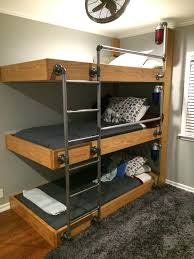 Three Tier Bunk Bed Three Tier Bunk Bed Conserving Space And Staying Trendy With