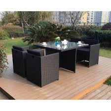 canap de jardin en r sine vito salon jardin noir résine 4 personnes achat vente salon de