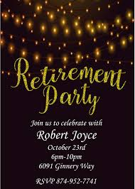 retirement party invitations custom designed new for fall 2017