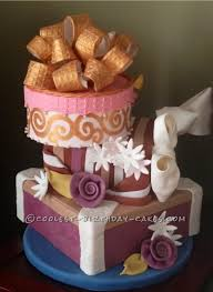 a whimsical and funky yet classic gift boxes birthday cake