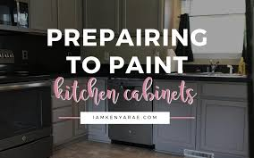 how to prepare kitchen cabinets for painting preparing to paint kitchen cabinets how to what to use