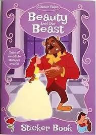 beauty beast colouring sticker book amazon uk