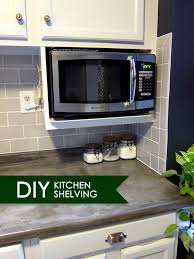 Microwave Under Cabinet Bracket Major Diy U0027s In The Kitchen Part 3 U2013 Additional Shelving