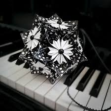 musical home decor music note paper flower ball kusudama flower pomander ornament