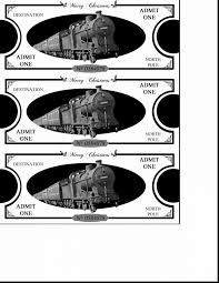 surprising polar express ticket template printable with polar