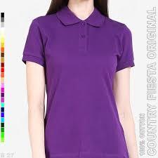 Baju Original country original p3 30 baju polo shirt cewek cotton ungu tua