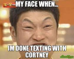 Kevin Hart Texting Meme - my face when im done texting with cortney meme impossibru guy