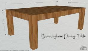 Outdoor Dining Table Plans Free by Diy Chunky Modern Dining Table