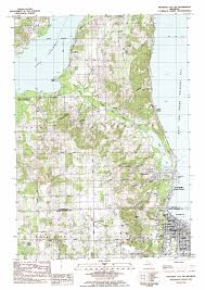 Lansing Michigan Map by Traverse City Sw Topographic Map Mi Usgs Topo Quad 44085g6