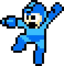 Retro Game Room Decor Mega Man Classic Decal Removable Wall Sticker Decor Art Megaman