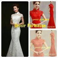 wedding dress brokat jual wedding dress baju akad nikah dress putih gaun