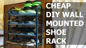 diy wall mounted shoe rack youtube