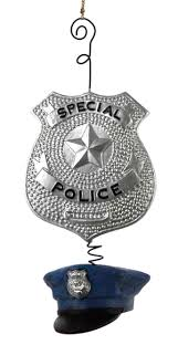 our special officer ornament chr o a0588 p