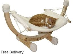 wonderful jumbl deluxe large bamboo cat dog hammock pet lounge bed