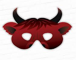 ox mask bull mask etsy
