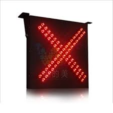 stop sign with led lights new 600mm red cross toll stop sign led traffic signal light on sale