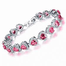 bracelet fine jewelry images Platinum classic heart micro zircon bracelet fine jewelry for gif