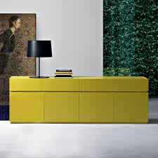 Sideboard Modern Como Mustard Yellow Sideboard High Gloss