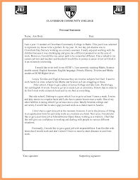 Curriculum Vitae Personal Statement Samples Personal Statement Template For College