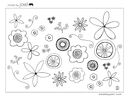 flower tracing pattern coloring page free download