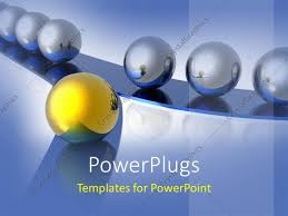 powerpoint template gold and silver balls as a metaphor for a way