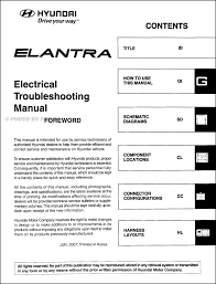 2008 hyundai elantra electrical troubleshooting manual original