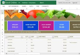 grocery list and price comparison template for excel online