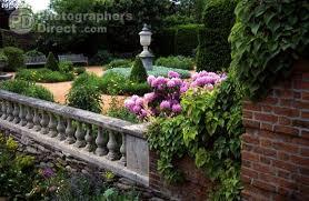 pd stock photo english garden wall and courtyard