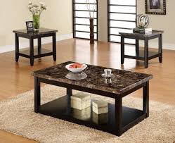 black marble coffee table interior fabulous dark wood coffee table sets 18 three pieces
