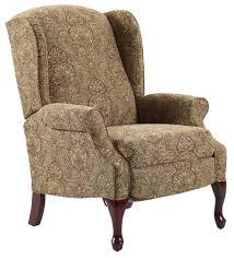 recliners hampton traditional high leg recliner in wing chair