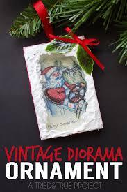 vintage diorama ornaments diy tried true
