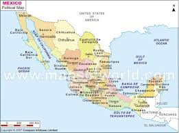 map of mexico with states political map