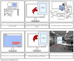 loan application storyboard by annadee44