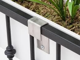 deck brackets for hanging rail planters windowbox com