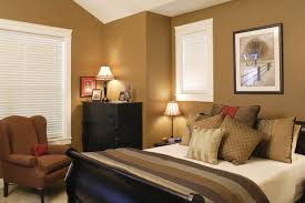 Living Room Color Palette Brown Bedroom Blue White Wall Room Combined With Dark Brown Wooden Bed