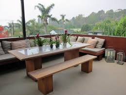 modern outdoor dining table and benches measurement for a modern