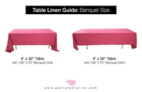 can you put a rectangle tablecloth on a round table let s talk linens the ultimate guide to table linen sizes party