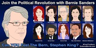 Stephen King Meme - endorsebernie com please endorse bernie sanders for president