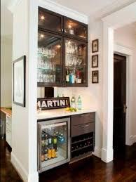 Built In Refrigerator Cabinets Mini Refrigerator Cabinet Bar Foter