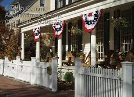 new england porch w american flag bunting photo photos