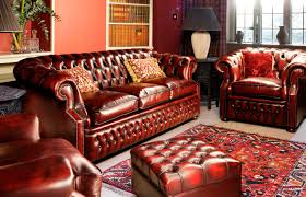 Classic Chesterfield Sofa by Chesterfield Sofa Leather 3 Seater Red Graham Fleming